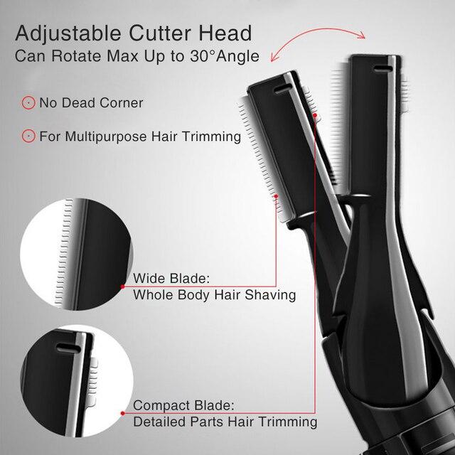 Multifunctional Electric Eyebrow Trimmer Painless Mini Hair Shaver Women Portable Facial Epilator Razors Face Hair Remover