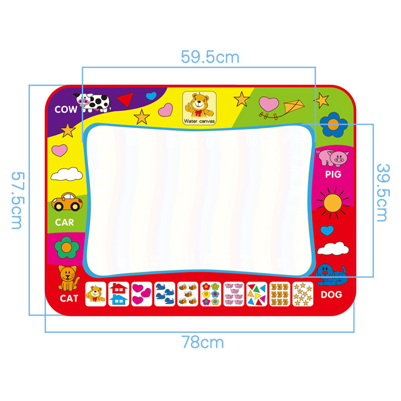 Large Size Graffiti Water Write Painted Blanket Magic Cloth Picture Books On Early Childhood Educational Toy Rainbow-colored Wat