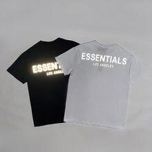 Camisetas de algodón con estampado de LOS ANGELS para hombre y mujer, ropa de calle de hip hop, Logo de reflexión de 3M, estilo masculino esencial, 2020