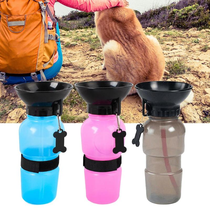 500ml Dog Water Bottle Portable Travel Outdoor Dogs Water Bowl Pet Puppy Cat Sport Bottle Drinker Water Mug Cup Dispenser