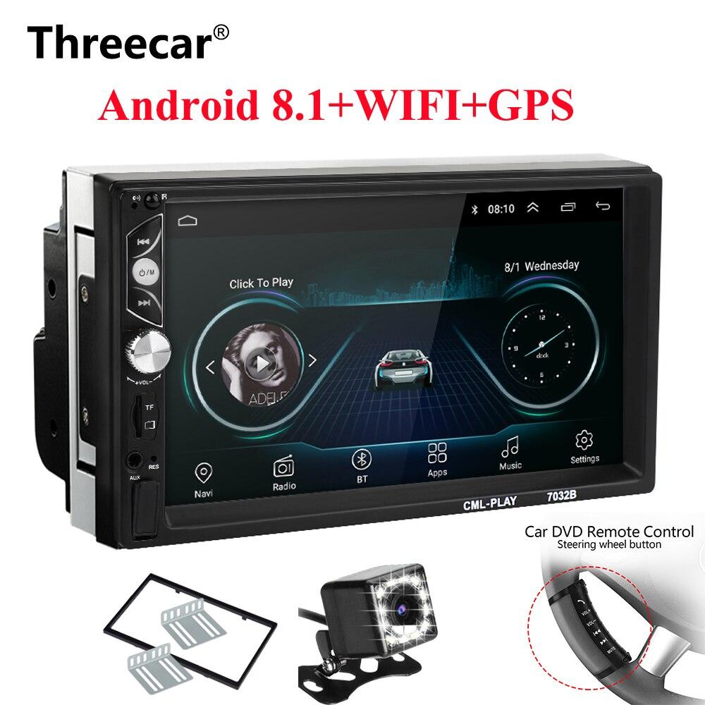 2 Din Android 8.1 Car radio Universal 7 inch HD Touch GPS Navigation Wifi Bluetooth Autoradio MirrorLink Multimedia DVD Player
