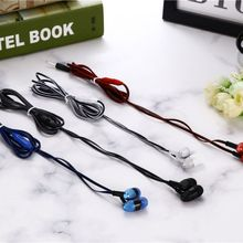 4 Colors Universal In-ear Braided Rope Earplugs Portable Earphone Wiring Wired Cloth Rope Subwoofer Head phones High Quality цена