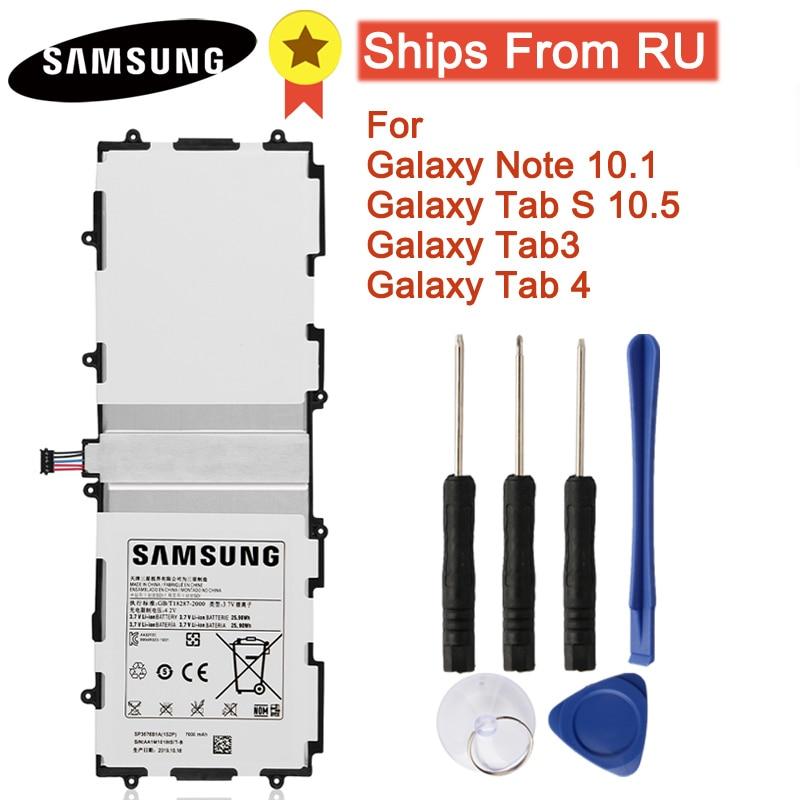 Original Battery SP3676B1A For Samsung Galaxy Note 10.1 GT-N8000 N8020 GT-P7500 GT-P7510 P5100 P601 Tab 3 P5200 Tab 4 Tab S T800