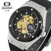 2019 New Gucamel top brand mens watch relogio masculino trend casual silicone strap automatic mechanical