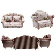 Мини-диван для кукольного домика, миниатюрный кукольный домик, декор для кукольного домика, 1:12 весы