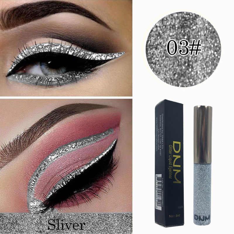 Delineador de diamante brilhante, delineador de glitter líquido com lantejoulas, maquiagem profissional coreano tslm2