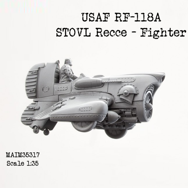 Scale <font><b>1</b></font><font><b>:</b></font><font><b>35</b></font> resin model figures <font><b>kit</b></font> US Air Force RF-118A Unpainted 271G image