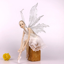 лучшая цена 17cm Resin angel miniature figurines Action Figure female Collectible model Ornaments Crafts lovely gifts Toys desk cake Deco
