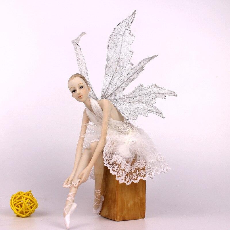 17cm résine ange figurines miniatures figurine Action femme à collectionner modèle ornements artisanat beaux cadeaux jouets bureau gâteau déco