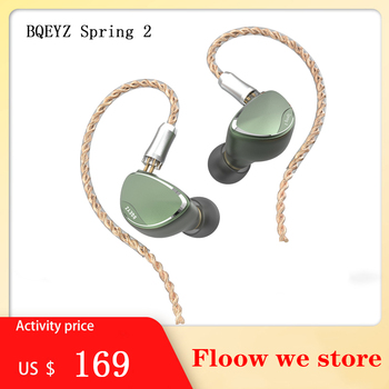 Bqeyz primavera 2 alta fidelidade in-ear fone de ouvido triplo híbrido ba driver dinâmico piezoelétrico iem monitor esportes fone de ouvido bq3 tfz no.3