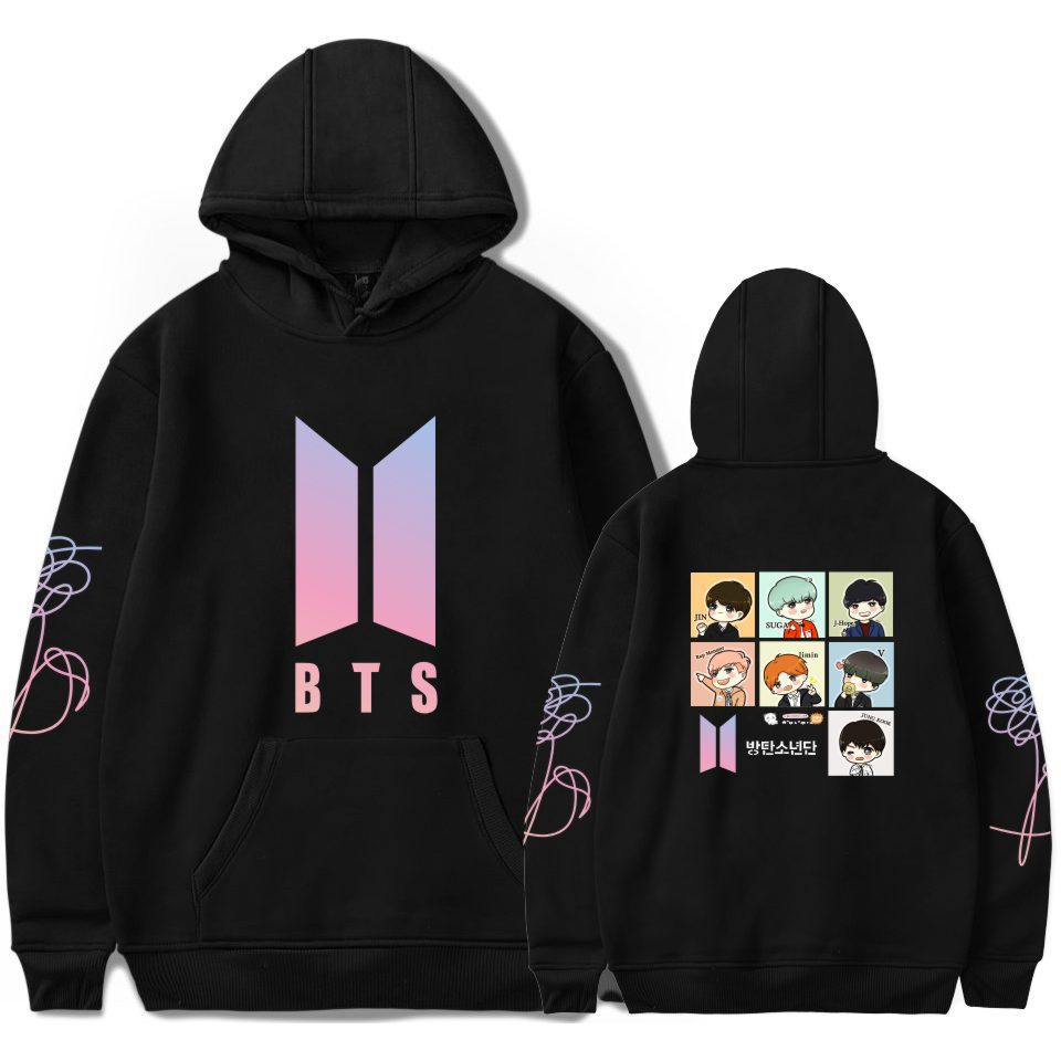Bulletproof Boys New Album LOVE Yourself Cartoon Hoodie Should Aid The Clothes Hooded Winter
