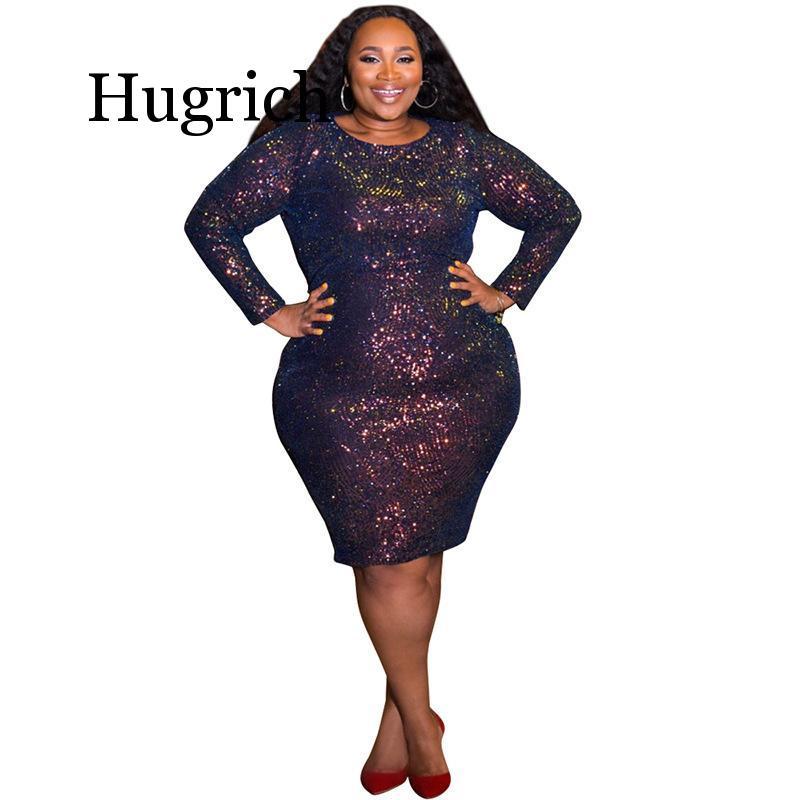 Mega Sale #ef0bf - Glitter Dress Plus Size Women Long Sleeve ...