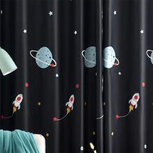 Мультяшный космический корабль синие затемненные шторы для гостиной