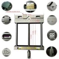 Aluminium Alloy Flat Tongs Vice 164mm CNC Machine Bench Vise Fixture Flat Tongs Screw Precision Parallel jaw Vice Plain Vise QGG