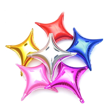 10pcs 10inch Four-pointed Star Foil Balloons Valentine Day Decoration Aluminium Helium Ballons Birthday Party Decorations Adult