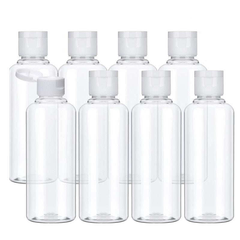 10Pcs Travel Bottle 10ml/30m Makeup Empty Plastic Bottles Flip Cap For Liquid Lotion Cream