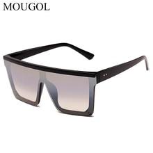 MOUGOL 2019 Europe and the United States sunglasses new square fashion large frame coated lens Siamese men women