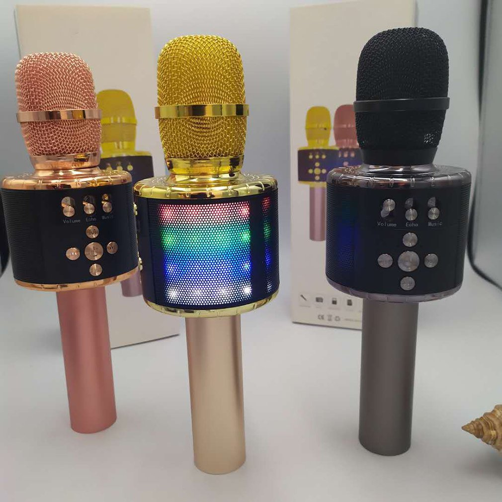 Bluetooth Wireless Condenser Magic Karaoke Microphone Mobile Phone Player MIC Speaker Record Music