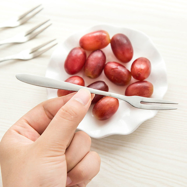 عشاء الحلوى شوكة الفاكهة حفلة الشواء شوكة طويلة الفولاذ المقاوم للصدأ BBQ تلسكوبي شوكة السكاكين اكسسوارات المطبخ