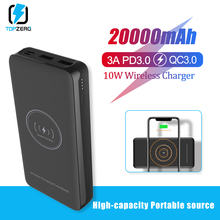 20000mAh Qi 10W Wireless Charger Power Bank 18W Quick Charge