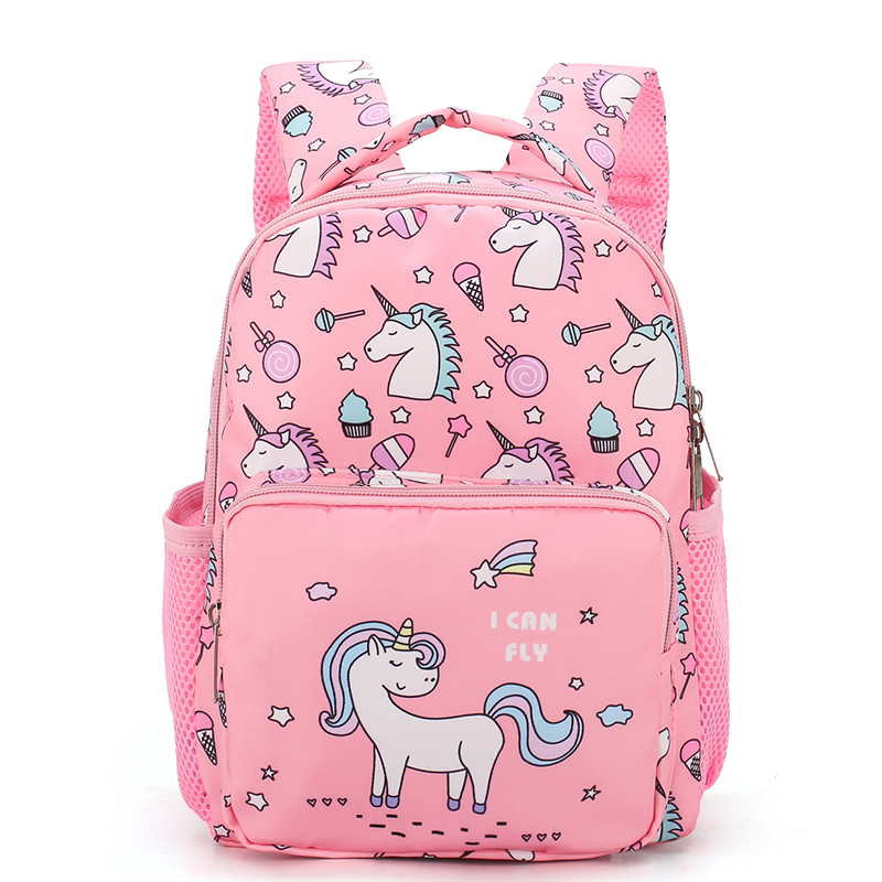 Children Backpacks 1-3 Years Girl Boy Unicorn Backpack Toddler Kids School Bag Waterproof Durable Nylon Kindergarten Cartoon Bag