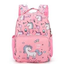 Children Backpacks 1-3 years Girl Boy Unicorn Backpack Toddler Kids School Bag W