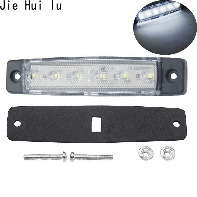12V voiture lumières externes blanc 6 SMD LED Auto voiture camion camion côté marqueur indicateur lumière de remorque queue arrière feux latéraux blanc
