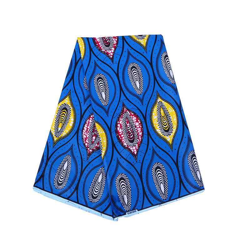 100% Cotton Blue African Print FabricHigh Quality Guarantee Real Dutch Wax