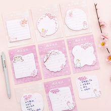 30 sheets Hot Sale Pink Cherry Blossom Memo Pad Unicorn N Times cute Sticker Notes For Girl School Supply Bookmark(China)