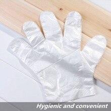 50/100 шт пищевые пластиковые перчатки экологически чистые одноразовые перчатки для ресторана отеля барбекю пищевые пластиковые перчатки кухонные перчатки прозрачные