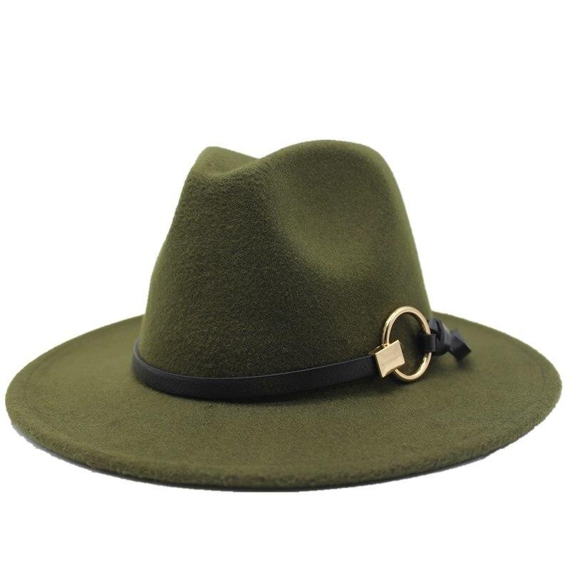 Фетровая шляпа jzaa для мужчин и женщин шерстяная шапка сомбреро