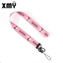 Kpop Mobile Phone Lanyard keychain BLACKPINK Twice GOT7 momoland ITZY TXT ASTRO X1 Ikon Album pendant key chain(China)