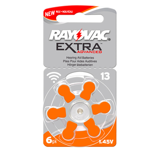 Image 4 - Hearing Aid Batteries 30 PCS/5 cards RAYOVAC EXTRA A13/PR48/S13 Zinc Air batterie 1.45V   Size 13 Diameter 7.9mm Thickness 5.4mm