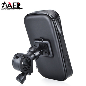 JAER Motorcycle Bike ATV Mirror Mount Holder Water Resistance Case for Mobile Cell Phone GPS Mount Holder USB Charger(China)