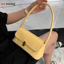 YIZHONG – sacs à main Baguette crocodile pour femmes, Mini sac à bandoulière simple de styliste en cuir, fourre-tout sous les bras