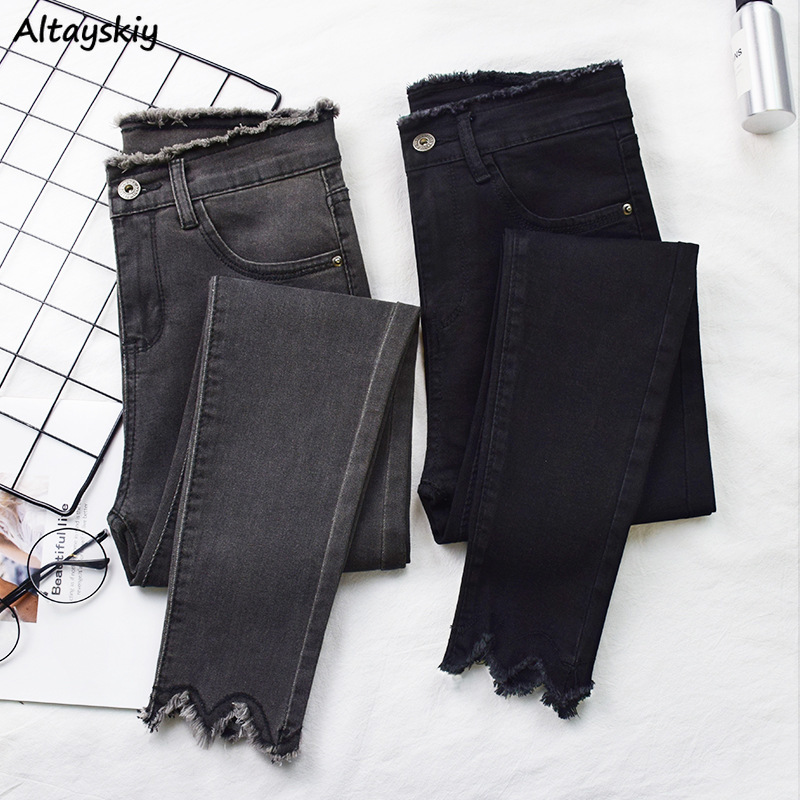 Jeans Women Plus Size 5XL Black Korean Fashion Fashionnova Womans Street Style Denim Solid Wash Skinny High Waist Stylish Soft
