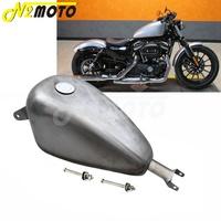 Unpainted 2.4 Gallon Motorcycle Fuel Tank Oil 2.4 Gal EFI Gas Tank for Harley Sportster XL XL883 XL1200 X48 X72 2007 2017