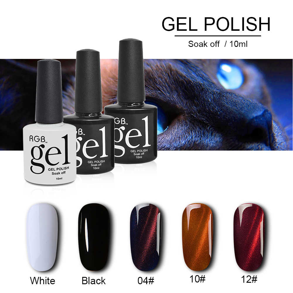 RGB Grote Verkoop Cat Eye Nagel Gel 3D Magnetische Gel Nagellak Top Coat Base Gel Vernis Semi Permanente Soak off UV Gel Lak