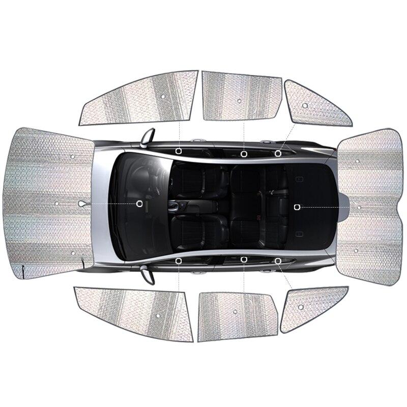 For 2009 Volvo XC60 S80L V60 V40 C30 S40 S60L Xc90 Aluminum Foil Sunshade 8pcs Setcar Windows Sun Block Sun Visor