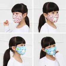 10PCS Kids Cartoon Cotton Breathable N95 Masks Baby Breath Anti-dust PM2.5 Non Woven Masks Anti Virus FFP2 Respirator In Stock