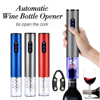 Automatyczny otwieracz do butelek do czerwonego wina aluminiowym nożem elektryczny otwieracz do czerwonego wina otwieracz do słoików akcesoria kuchenne gadżety korkociąg tanie i dobre opinie Credeae CN (pochodzenie) Openers Otwieracze Czerwone wino Ekologiczne Zaopatrzony Ze stopu aluminium ze stopu aluminium
