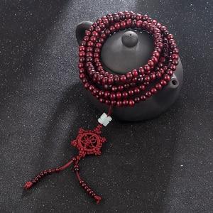 Image 1 - 2 farbe Duftenden Natürlichen Sandelholz Perlen Armband Buddhistischen Meditation Gebetskette Mala Armband Hand Halskette
