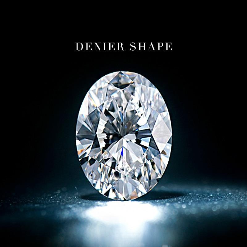 American D-COLOR Irregular Egg Shaped Oval DENIER Morsonite Nude Diamond Ring And 1 Carat Diamond Ring Naked LOOSE Stone