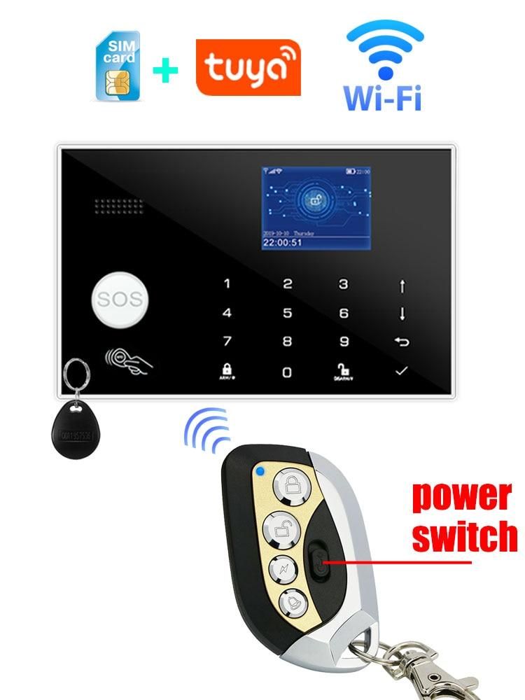 Wifi GSM Alarm-System Wired-Detector Burglar-Alarm Alexa Tft-Touch-Keyboard RFID Compatible