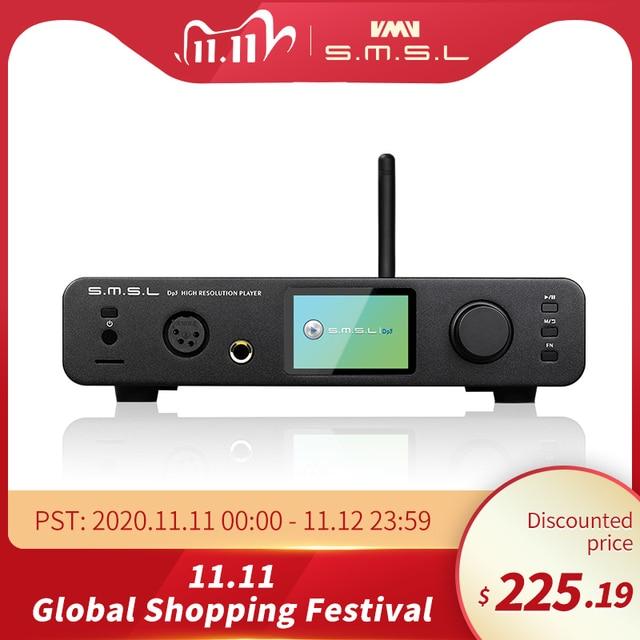 SMSL DP3 DSD HIFI 디지털 네트워크 음악 플레이어 헤드폰 증폭기 WIFI ES9018Q2C DAC DSD256 Bluetooth