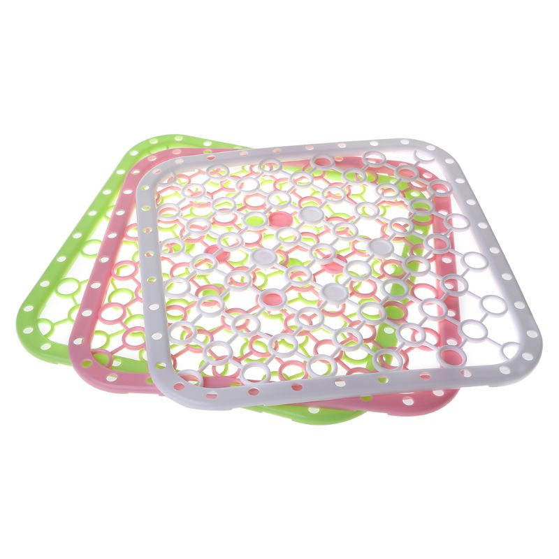 Multifunction Silicone Table Placemat Vegetables Dishes Sink Drying Rack Draining Board Mat Big Grids Kitchen Insulation Pad