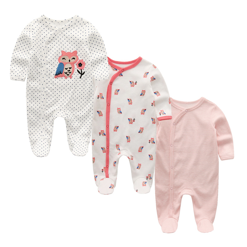 H2a3e4e71c24f43998a99a41859c6a904G 3 PCS/lot newbron winter Baby Rompers Long Sleeve set cotton baby junmpsuit girls ropa bebe baby boy girl clothes