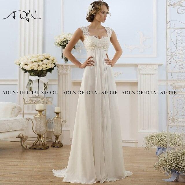 Simple Empire Waist Wedding Dress for Pregnant Woman Chiffon Boho Bride Dress Hot Sale Plus Size Cheap Bridal Gown Robe de Marie 5