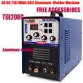 TSE200G Machine à souder à l'arc courant alternatif TIG/MMA/ARC génération de dispositif de soudeur en aluminium 220V et accessoires gratuits