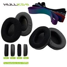 Nullkeai Replacement Earpads Headband For SteelSeries Arctis 7,9,PRO Headphones Thicken Leather Velvet Velour Earphone Sleeve